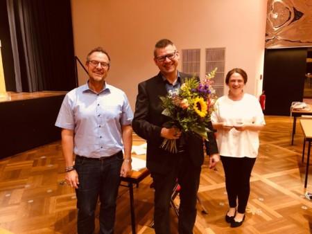 Friedel Lenze mit den Fraktionsvorsitzenden der Kreistagsfraktion